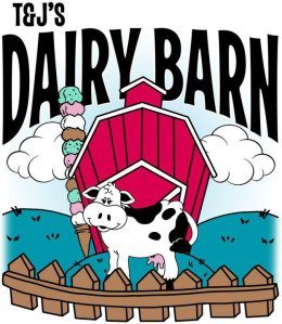 Welcome to T & J's Dairy Barn, located in Burgess, VA.                                                 2019 NNK Readers' Choice Award – Best Casual Dining and Best Ice Cream Shop!